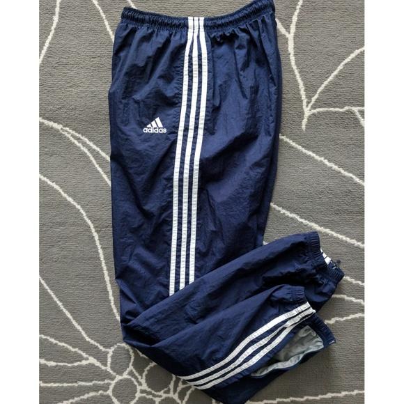 a672d146b5 adidas Other - VTG 90's ADIDAS Nylon Zip Leg Jogger Track Pants